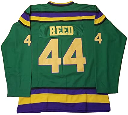 Amazon.com  Kooy Fulton Reed  44 Mighty Ducks Movie Hockey Green ... b8efab9c5cb