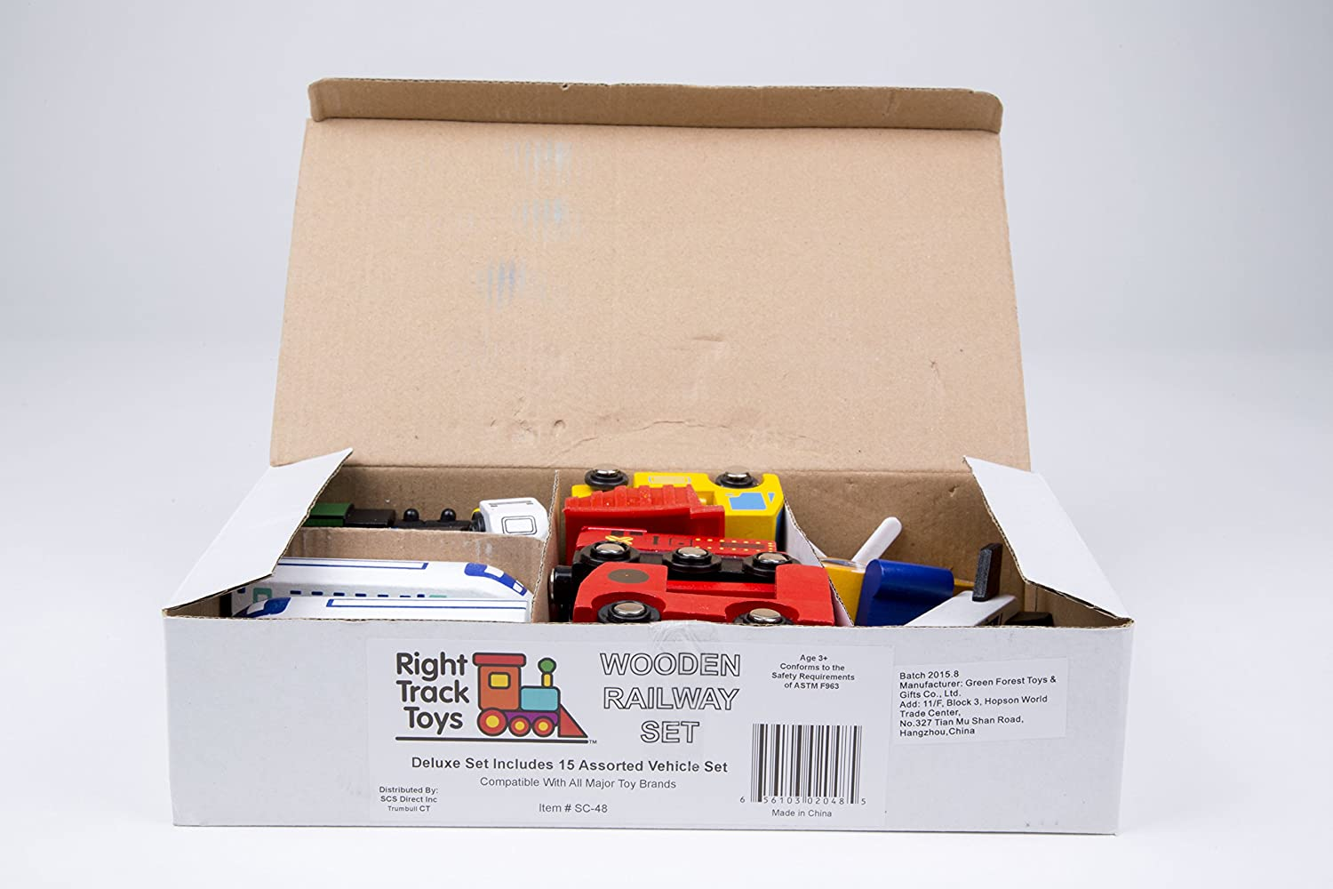 Right Track Toys Wooden Train Car Set All Major Brands 15 Unique Vehicles and Engines Add Variety to Your Set Brio Compatible with Thomas