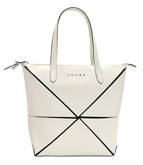 2d21bcd1793f Cross Origami Women's Collapsible Handbag (IVORY): Amazon.in: Shoes ...
