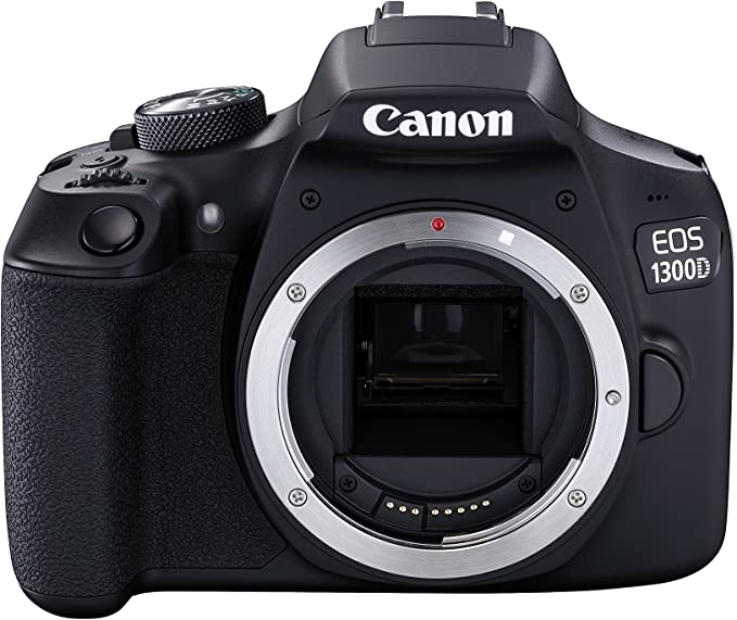 Canon EOS 1300D DSLR Camera - Black (Refurbished): Amazon.es ...