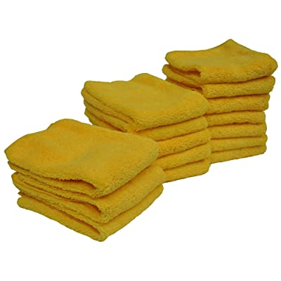 Detailer's Preference Eurow Microfiber 14in x 17in 300 GSM Cleaning Towels High Pile 15-Pack: Automotive