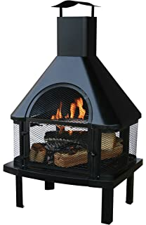 Amazon.com : Char-Broil Trentino Deluxe Outdoor Fireplace : Fire ...