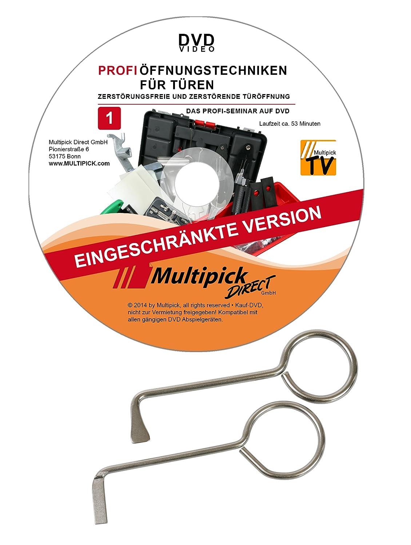 Dietrich Set 2 teilig mit Profi Anleitung auf DVD Dietriche Sperrhaken für alle gewöhnliche