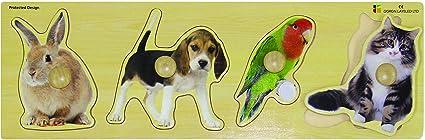 Edushape Giant Pets Puzzle, 4 Piece