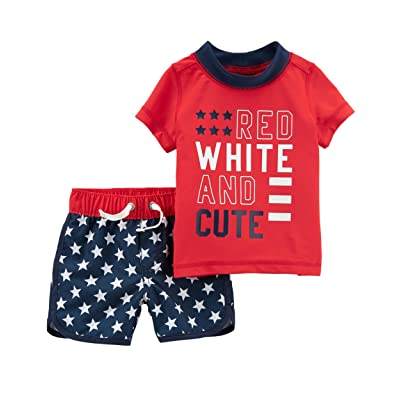 Carter's Baby Boys' 0M-24M 4th of July Rashguard Set