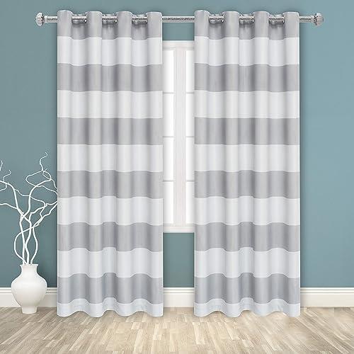 BONZER Stripe Window Curtains