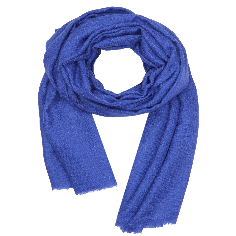 100%ハンドスピン カシミヤ スカーフ, Kashmir レディースメンズ 冬 ファッション 固体 スカーフ , 柔らかい 長いです ショール, 暖かい パシュミナ ダーク 青 KASHFAB B01NBKVRQH