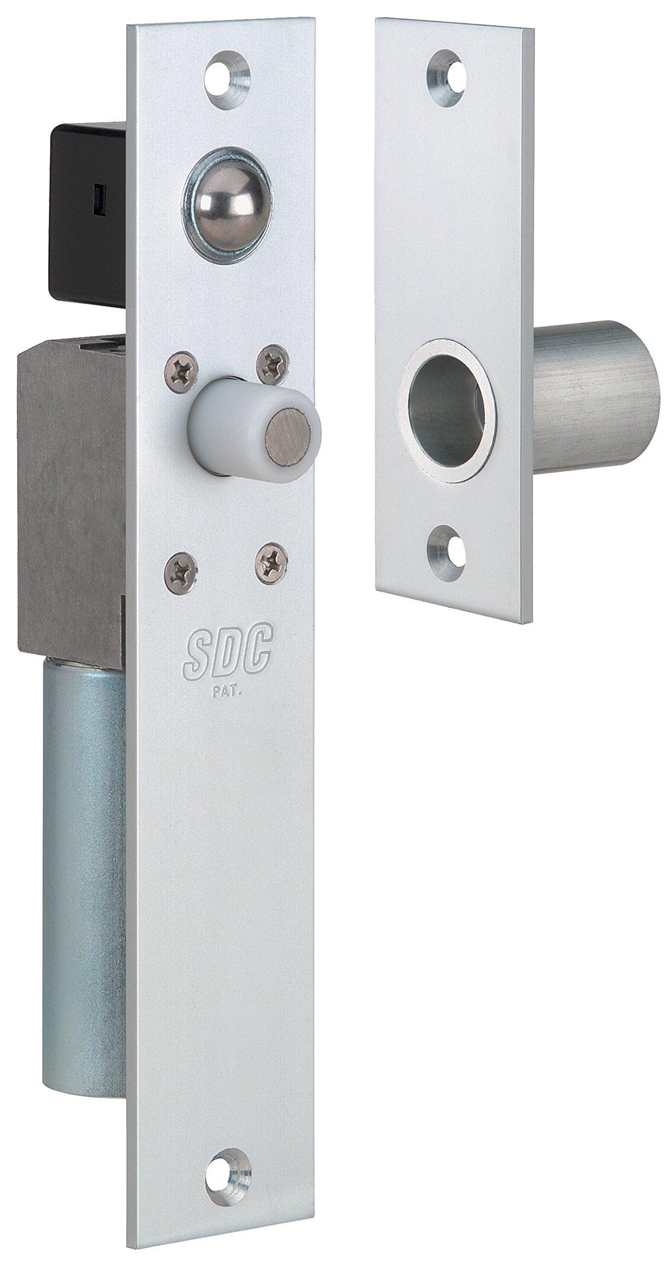 SDC FS23MIQ Spacesave Bortise Bolt Lock, Fits 1-3/4'', Dual Failsafe, 12/24 VDC, Dull Chrome