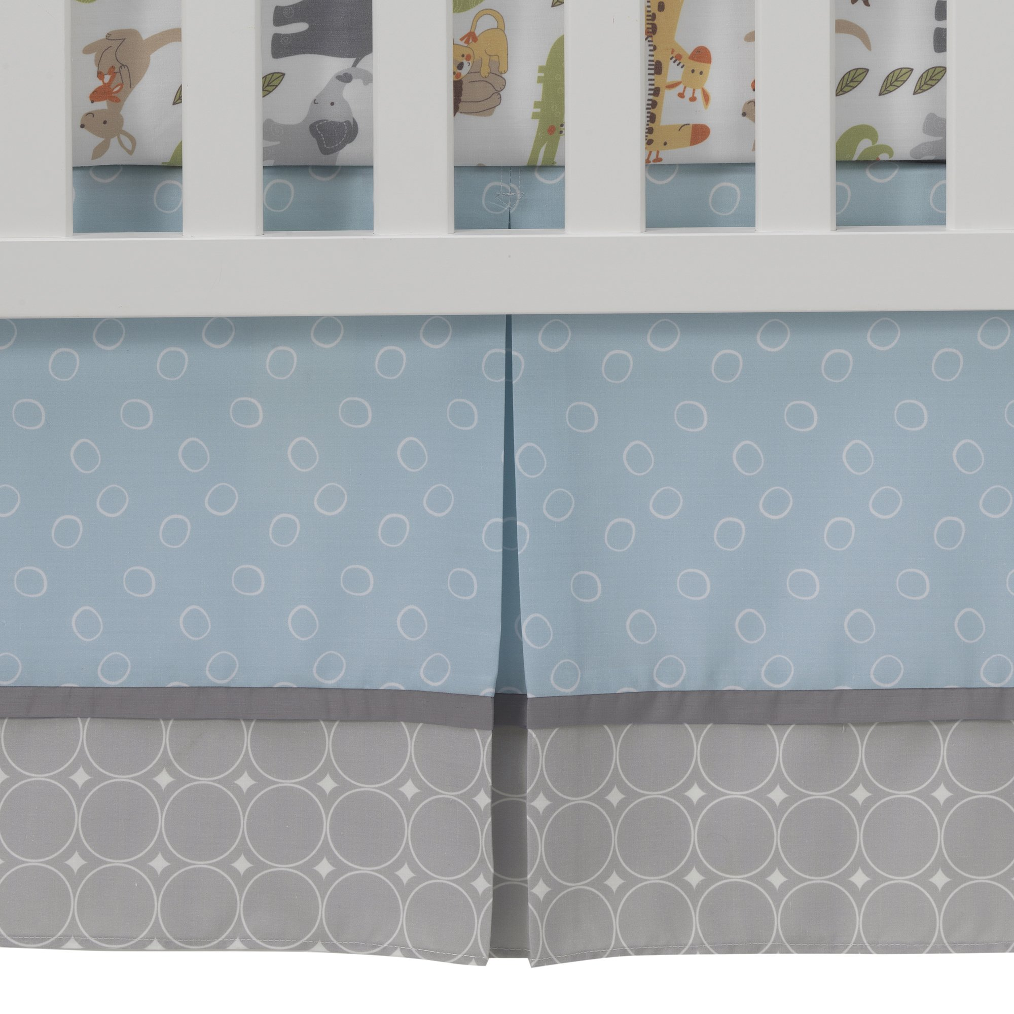 Lambs & Ivy Two of A Kind Noah'S Ark Animals 4 Piece Crib Bedding Set, Blue/Gray by Lambs & Ivy (Image #7)