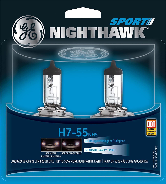 GE H7-55 NHS/BP2 Nighthawk Sport Replacement Bulb, (Pack of 2)