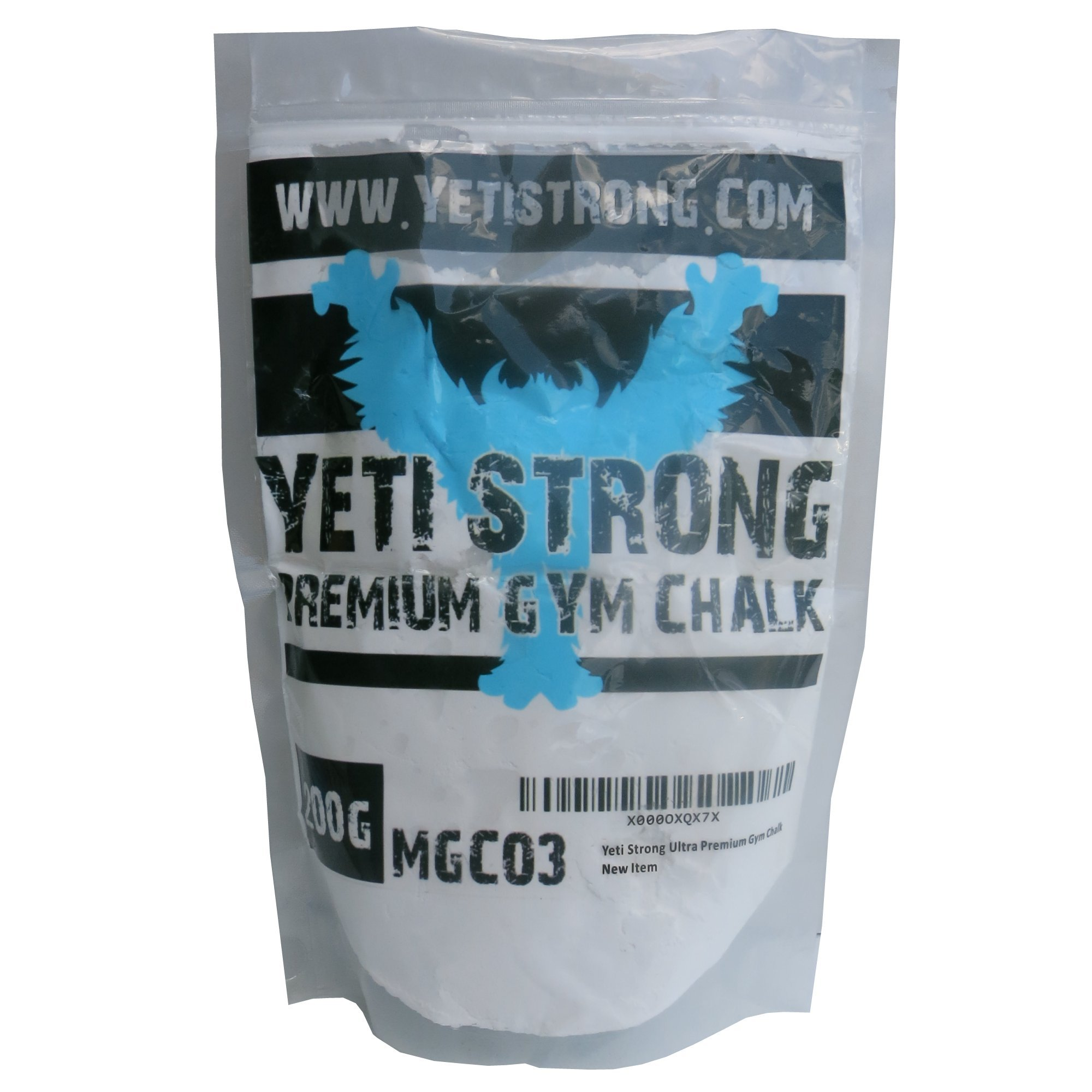 Yeti Strong Ultra-Premium Gym Chalk 200g - Best Climbing Chalk for Climbing, Weightlifting, and Gymnastics - 100%