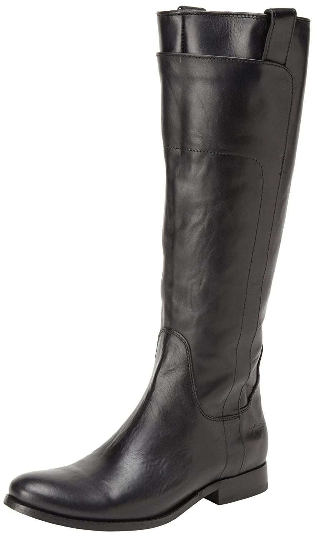 FRYE Women's Melissa Tall Riding Boot B00ANLXX4Q 6 B(M) US Black Smooth Vintage Leather-76932