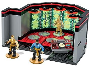 Mega Bloks Transporter Juego de construcción de sala de Star Trek Kirk Spock Scotty Kids EE