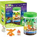 HOMOFY Light-up Terrarium Kit for Kids with LED Light - Create Mini Garden That Glows at Night, STEM Educational Science Kits