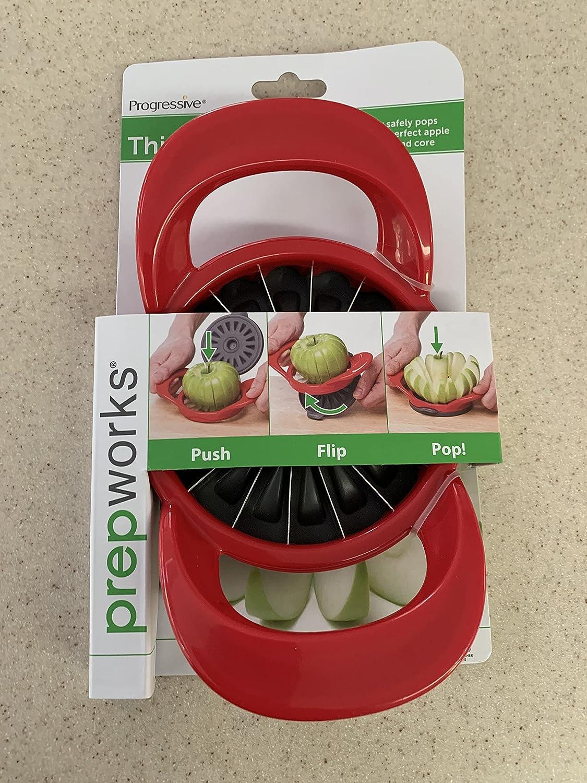 Progressive Thin Apple Slicer / Corer 16 Slices Apples & Pears Flip & Pop 2-Pack