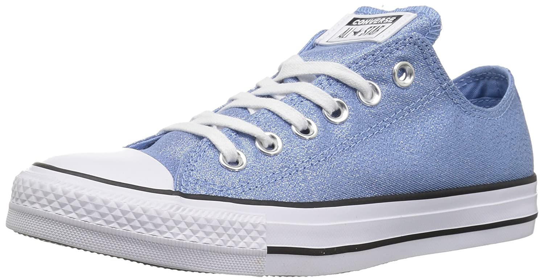 Converse Women's Chuck Taylor All Star Shiny Tile Low Top Sneaker B078NJSR56 7.5 M US|Light Blue/White/Black