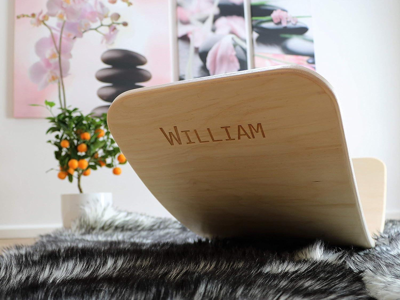 KateHaa wooden balance board curvy board ENGRAVING