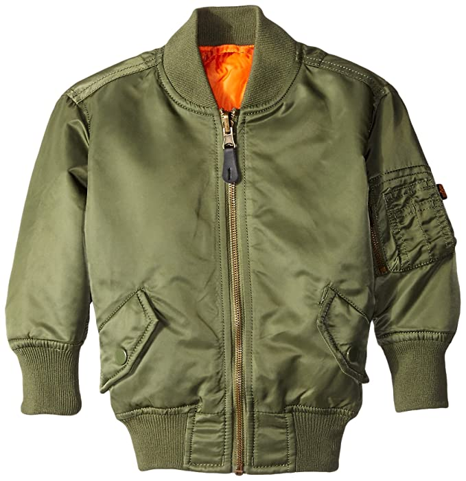 Alpha Industries Little Boys MA-1 bombardero chaqueta ...