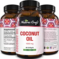 Natures Craft Extra Virgin Coconut Oil - Weight Loss Pills - Coconut Oil Softgels...