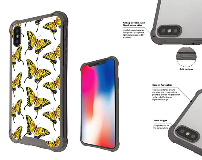 Amazon Com 001623 Collage Of Yellow Butterflies Wallpaper Iphone X