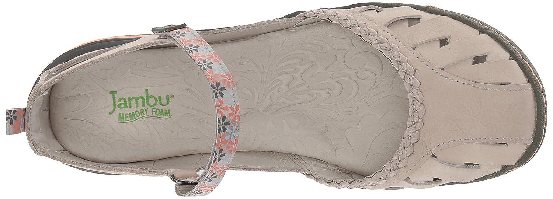 Jambu Women's Apple Blossom Mary Jane Flat B074KPDZHW 6.5 B(M) US|Light Grey