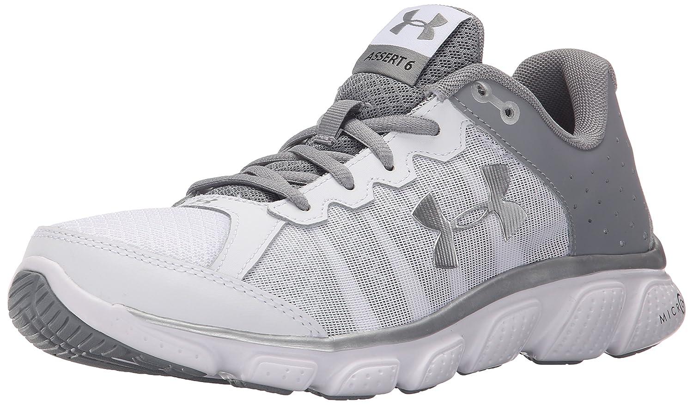 Under Armour Women's Micro G Assert 6 Running Shoe B00ZVOSO8K 6.5 M US|White (100)/Steel