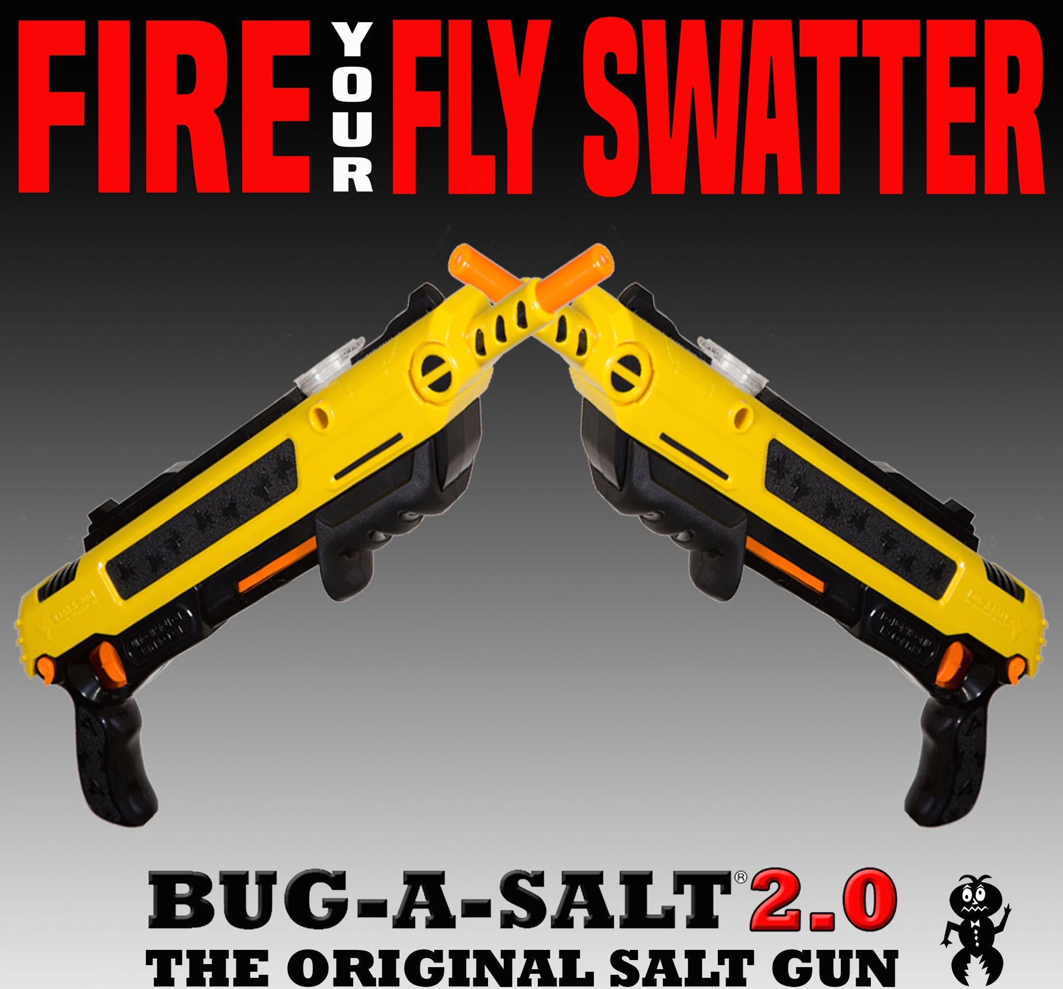 BUG A SALT 2.0 - 2 PACK - BEST VALUE! Authorized Seller-Gets Rid of the Flys!! by Bug-A-Salt