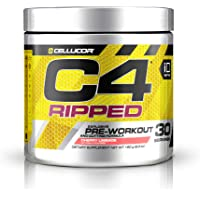 Cellucor C4 Ripped Pre Workout Powder Cherry Limeade | Creatine Free + Sugar Free Preworkout Energy Supplement for Men…
