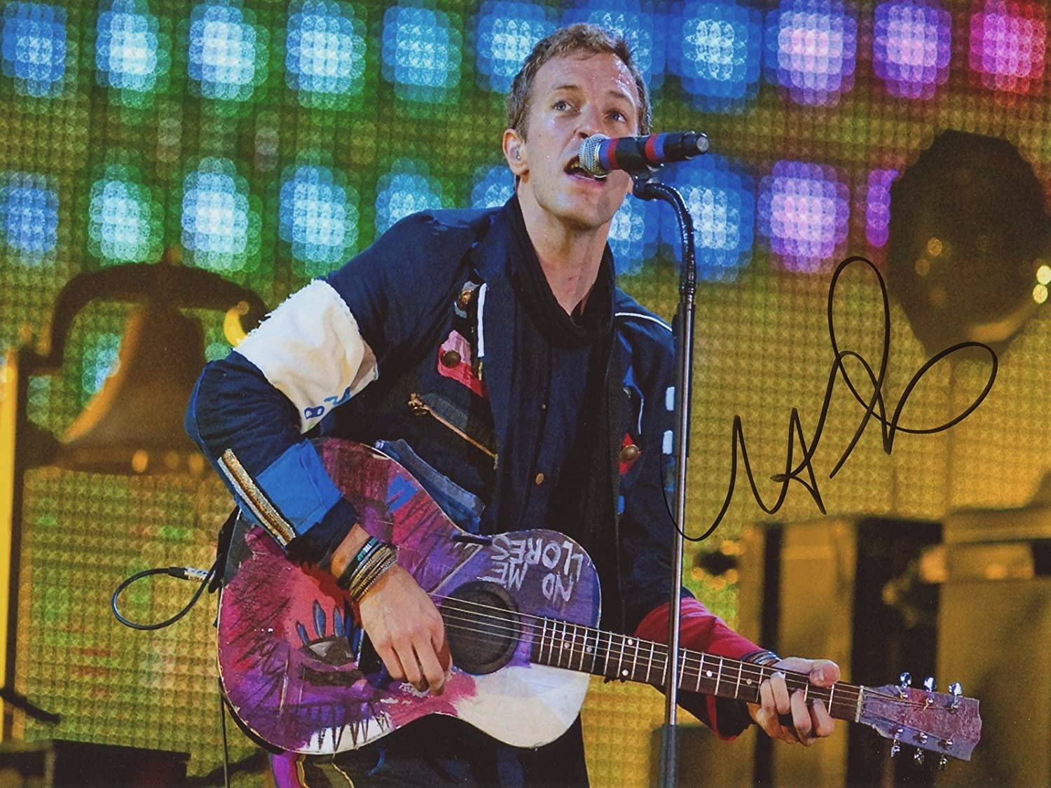 Chris Martin Coldplay SIGNED 12 x 8 Foto img01 Authentic + Echtheitszertifikat