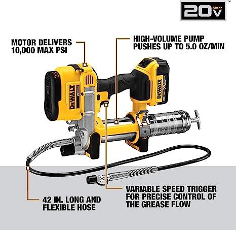 DEWALT DCGG571B 20V MAX Lithium Ion Tool Only Grease Gun