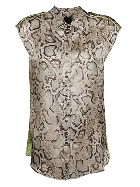 8e6f99438b3 Pinko Women's 1B13KY7444CL1 Beige Viscose Shirt: Amazon.co.uk: Clothing