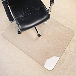 Anti-Slip Carpet Chair Mat Crystal Clear,Protects Floors Rectangle Without Scratching Sturdy and Heavy Duty Office Chair Mat Floor Mat -90x100cm(35x39inch)-Crystal Clear 2.0mm