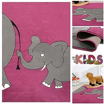 Kinderteppich elefant  Amazon.de: Kinderteppich Spielteppich mit lustigen Elefanten in ...