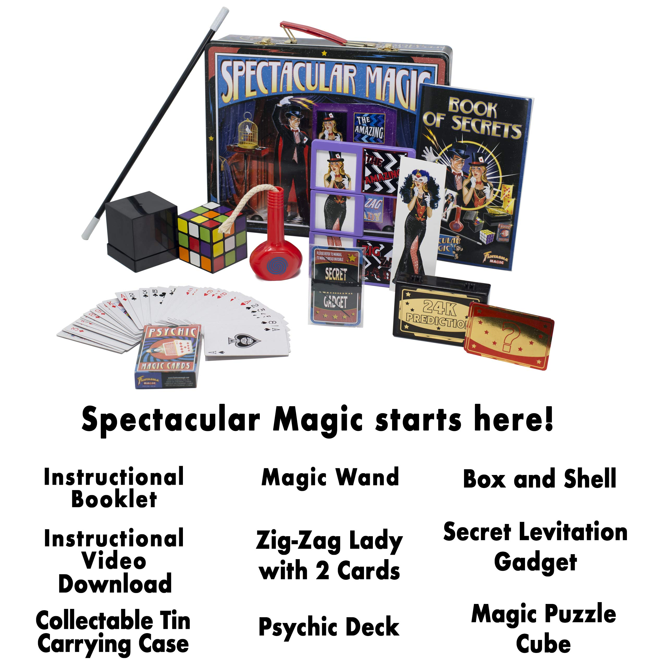 Fantasma Spectacular Magic Box Set for Kids - Magic Kit and Card Trick - Learn 135 Magic Tricks - Great for Boys and Girls 7 Years and Older        by Fantasma (Image #3)