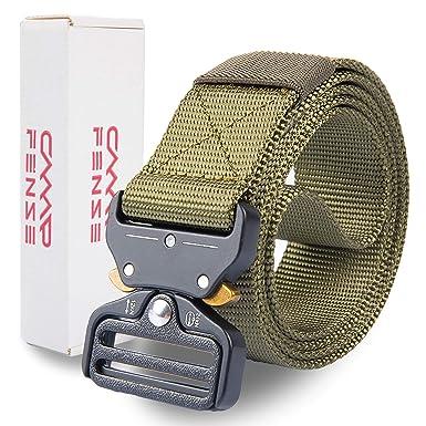 neues Design Bestbewertete Mode Farben und auffällig CampFENSE Taktischer Gürtel, Taktisch Gürtel Schwerlast Militär Nylon Web  Gurt, Breite 1,5