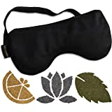 Calm & Cozy Premium Eye Pillow | Weighted with Flaxseed & Includes Packets of Lavender, Mint, and Lemon—Each Infused with Essential Oil | For Sleep, Yoga, Relaxation | 100% Silk Mask