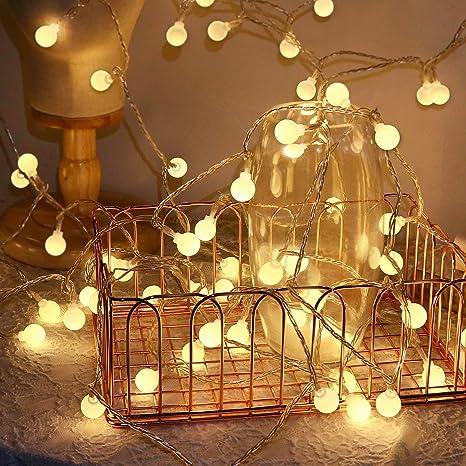 KOREY Catena Luminosa 120LED 15m Luce del Giardino Lampada Sferica 8 modalit/à Catena di Illuminazione Decorativa per Esterni