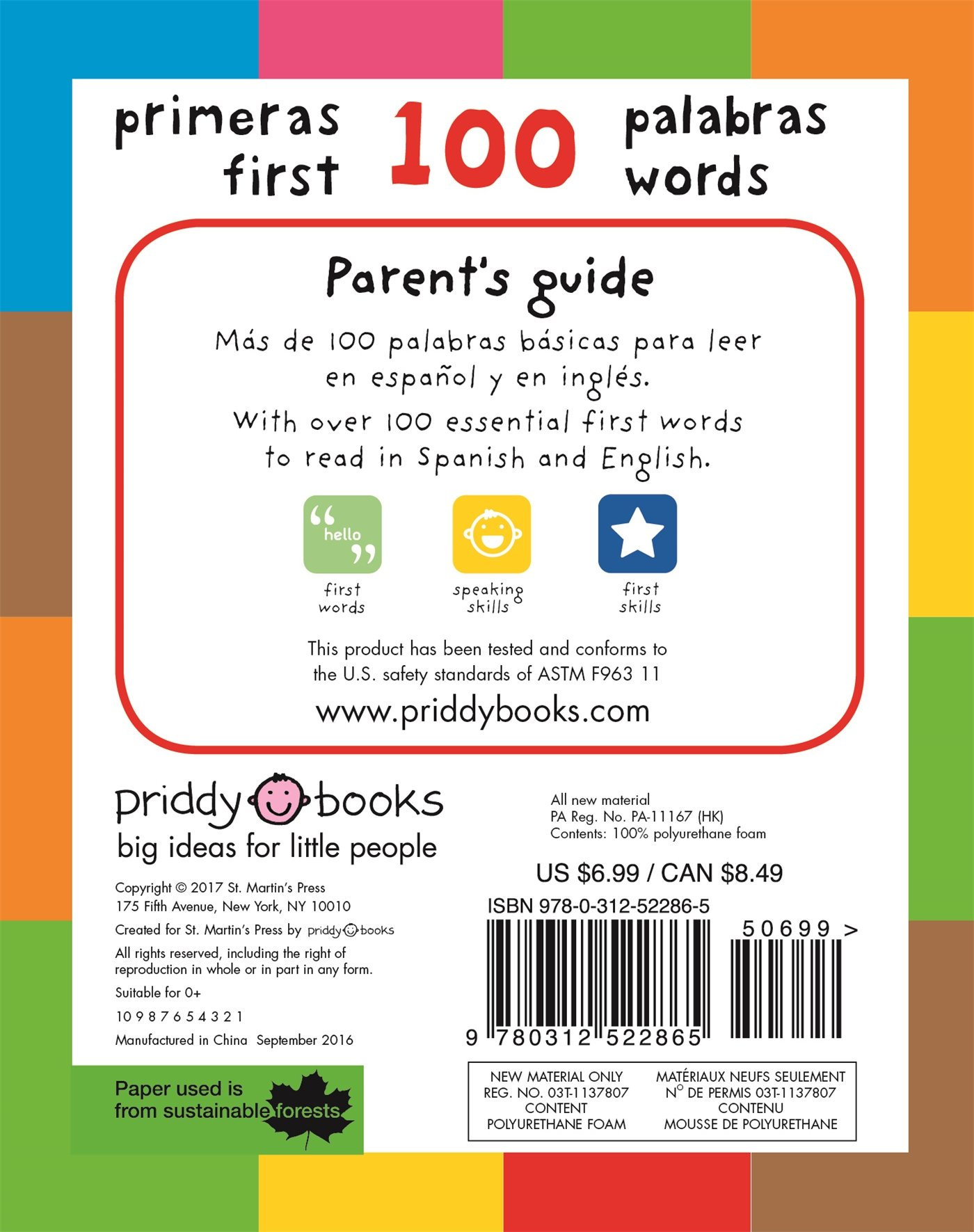 Amazon.com: First 100 Words Bilingual (small padded edition ...
