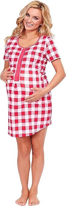 TALLA XS. Italian Fashion IF Camisón Premamá Lactancia Mujer M002