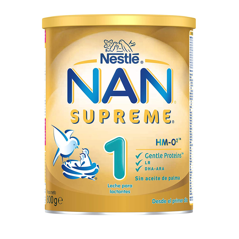 NAN SUPREME 1 - Desde el primer día - Leche para lactantes en polvo Premium - Fórmula para bebé - 800g Sin Aceite de Palma: Amazon.es: Alimentación y ...