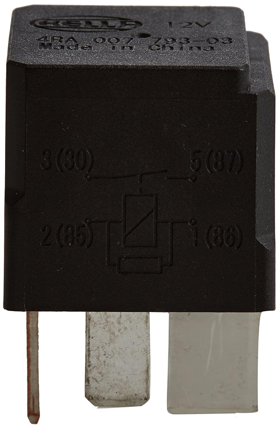 HELLA 4RA 007 793-037 Relay, main current, 12V, with resistance Hella KGaA Hueck & Co.
