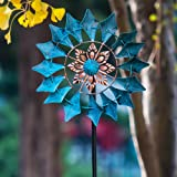 Wind Spinner Emerald 61in Single Blade Easy Spinning Kinetic Wind Spinner for Outside – Vertical Metal Sculpture Stake…