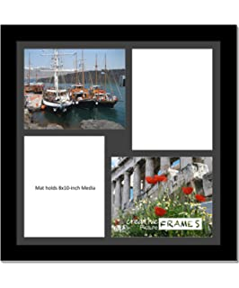 creativepf 2020bk 20 by 20 inch black picture frame with 4 opening black