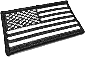 The Tactical USA Flag Tactical Morale Patch - Black & White - Made in The Us