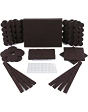 Furniture Felt Pads & Furniture Pads 150 Pack - 118 Felt Pads & 32 Clear Rubber Feet Bumpons. Chair Leg Floor Protectors With Strong Adhesion, 5mm Thick Floor Protector Pads For Increased Durability