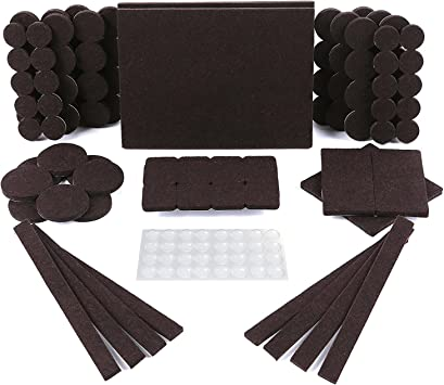 FURNITURE SLIDERS /& FELT PADS Self Stick Felt Pads for Furniture Protects Floor Felt Protector Round 1 7//8 Lot of 2 Packs