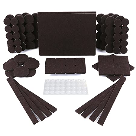 Ordinaire Furniture Pads 150 Pack   118 Felt Pads Brown, Premium Heavy Duty Self  Stick Furniture