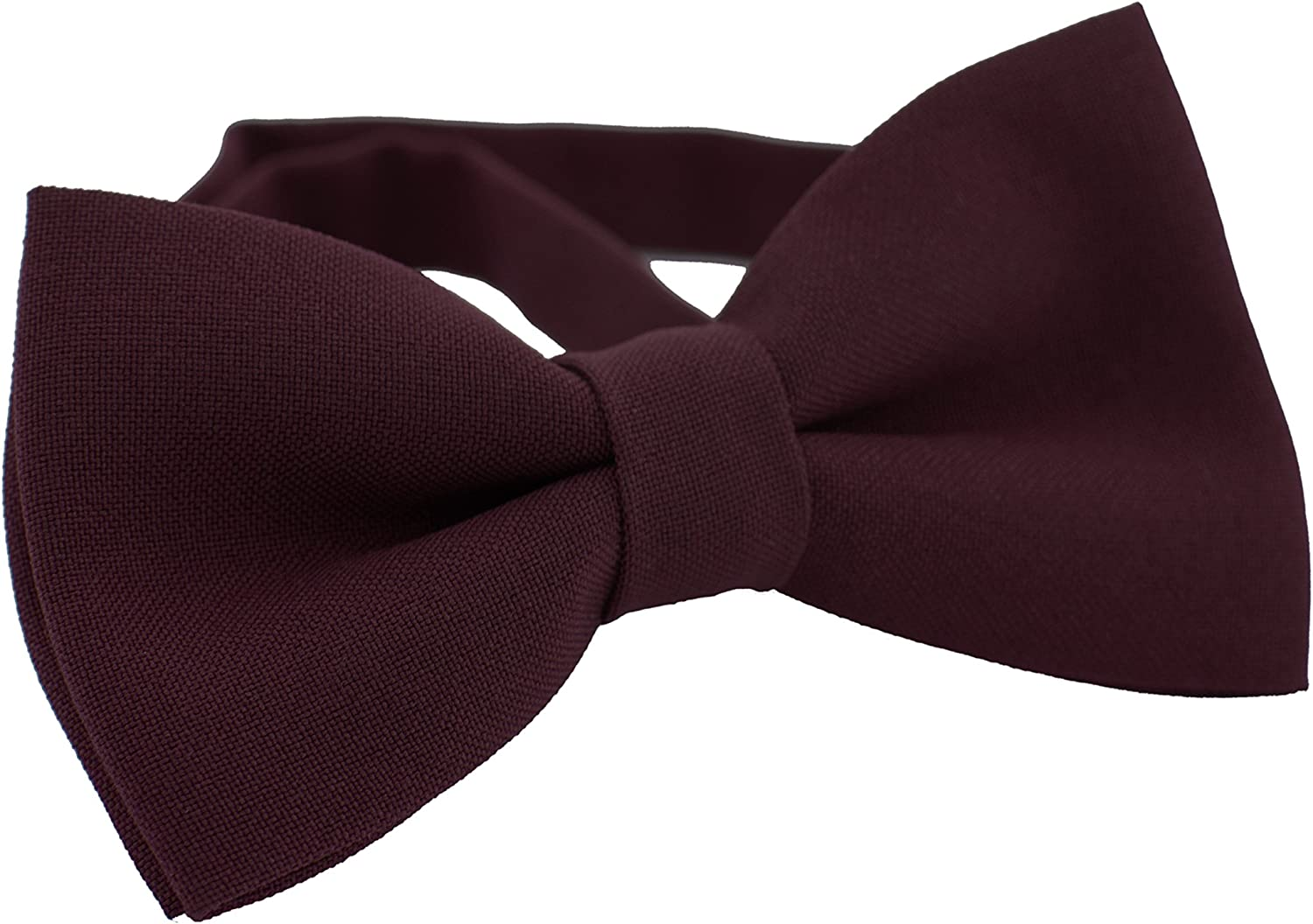 Small, Yellow by Bow Tie House Classic Pre-Tied Bow Tie Formal Solid Tuxedo