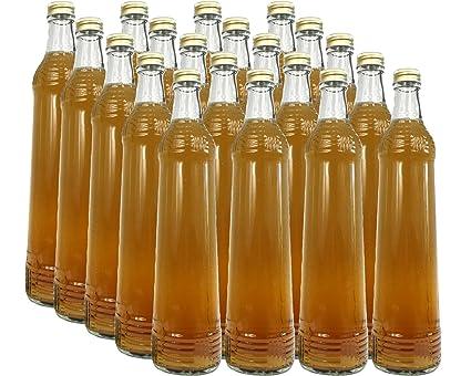 Juego de botellas de cristal (con tapón de rosca Oro | 10 piezas | cantidad