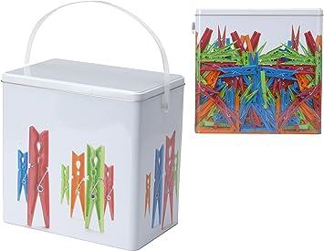 Para pinzas de la ropa de almacenamiento metálica para la ropa en 2 Designs: Amazon.es: Bricolaje y herramientas